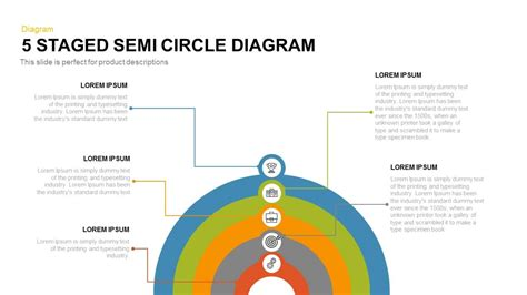 staged semi circle diagram powerpoint  keynote template slidebazaar