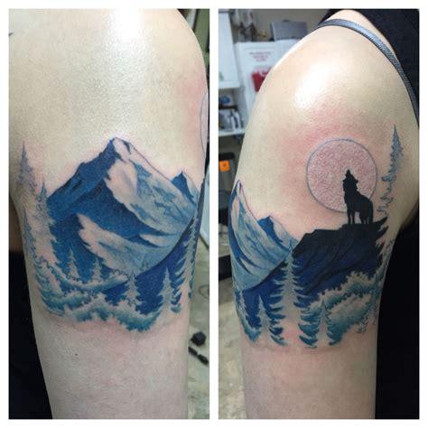 mountain  howling wolf tattoos tattoos wolf