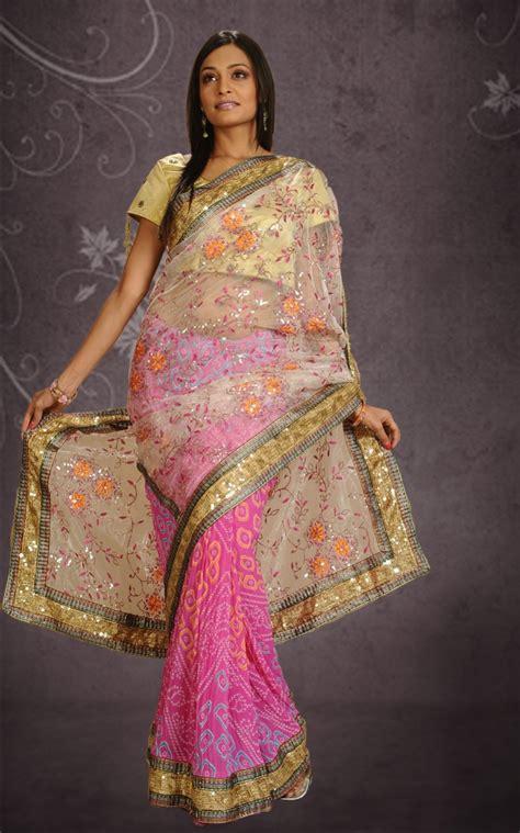 bandhani saree designs latest collection beautiful bandhani saree dress  wedding yusrablogcom