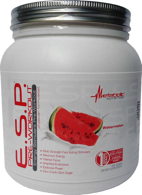metabolic nutrition esp pre workout watermelon  gm