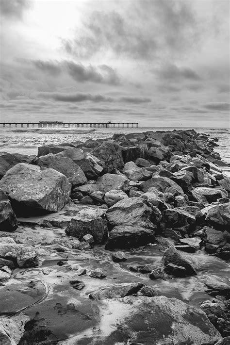 Black and White Beach - Rogue Aurora Photography
