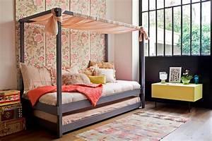 Lit Fille Cabane : un lit cabane pour une chambre d 39 enfant aventure d co ~ Teatrodelosmanantiales.com Idées de Décoration