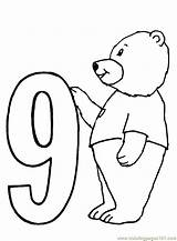 Coloring Bear Numbers Number9 Clipart Colouring Coloringpages101 Popular Library sketch template