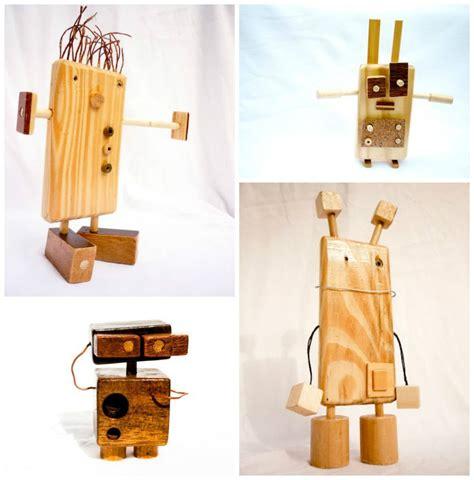 wooden robots snedkerier bois jouets en bois og bricolage
