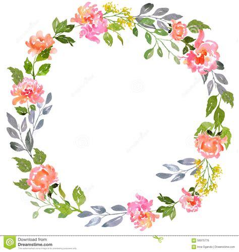 calibre floral de carte daquarelle illustration stock