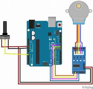 Circuit Diagram For Controlling Stepper Motor Using