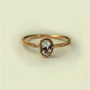 aquamarine engagement ring unique engagement ring simple With unique simple wedding rings
