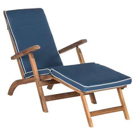 Folding Lounge Chair Target palmdale folding lounge chair teak brown navy
