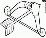 Cupid Cupido Arco Coloring Flecha Arrow Bow Boog Printable Colorir Pijl Freccia Flechas Colorear Desenhos Oncoloring Dibujos Sheets San Feliz sketch template