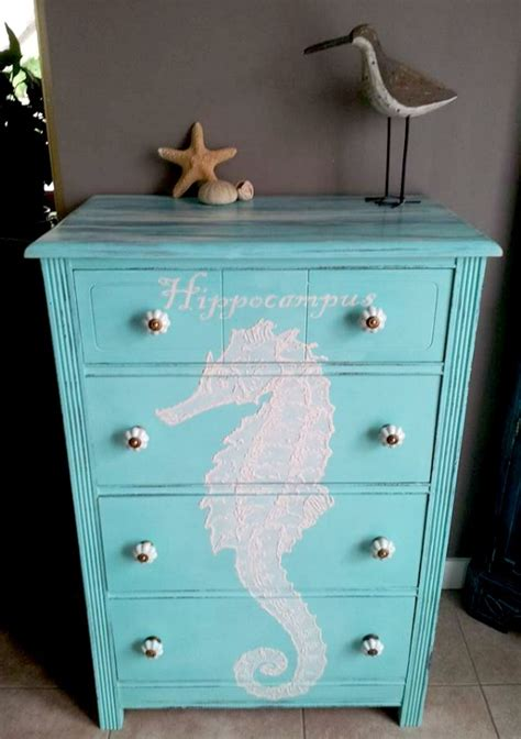 beach themed bedside tables hand painted beachy dresser reader feature the