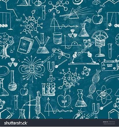 Chemistry Vector Physics Background Pattern Blackboard Shutterstock