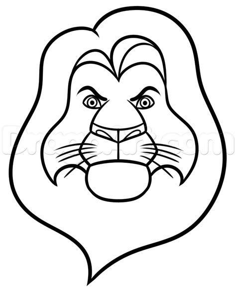 How To Draw Mufasa Easy, Step By Step, Disney Characters