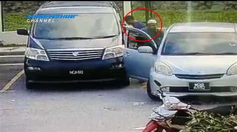 kereta vellfire warna hitam video lelaki berkopiah pecah cermin kereta curi rm30k