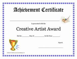 Free Certificate Template 10 Best Images Of Art Award Certificate Blank Art Award Certificate Templates Art Achievement