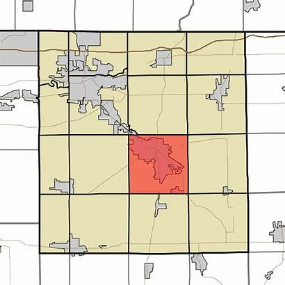 Indiana Elkhart County Map Township Clinton Svg