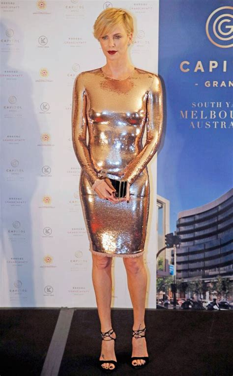 Charlize Theron Best Bold In Gold From Charlize Theron S Best Looks E News