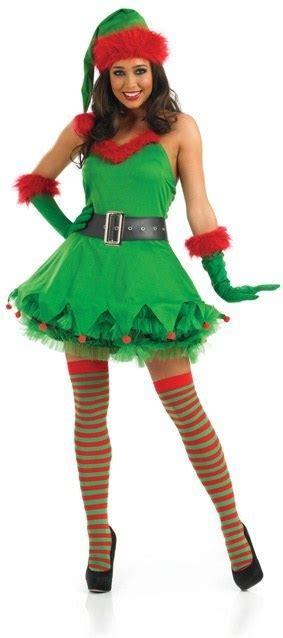 ladies christmas elf costume