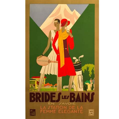 deco posters for sale deco period travel poster brides les bains by benigni 1929 for sale at 1stdibs