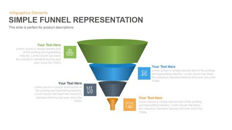 simple representation funnel powerpoint template