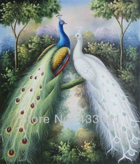 peacock home decor oil paintings  canvas home decoration