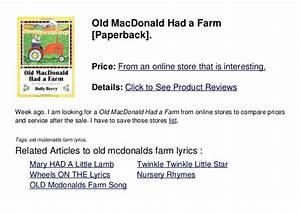 Old Mcdonalds Farm Lyrics