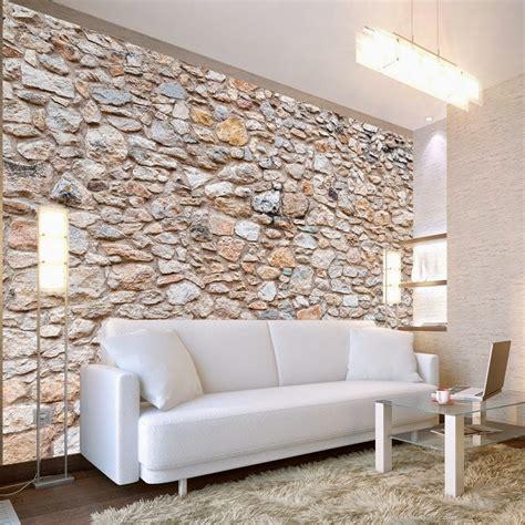tapis de cuisine originaux papier peint effet brique