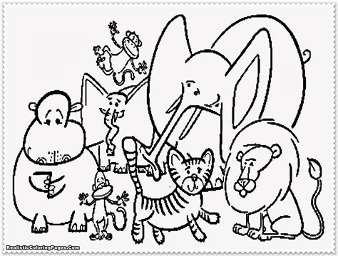 Coloring Page Animal Zoo Animal Coloring Pages Realistic Coloring Pages