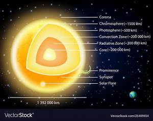 Sun Structure Diagram Royalty Free Vector Image