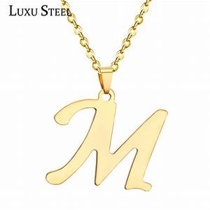 luxusteel fashion stainless steel letter pendant With letter charm choker