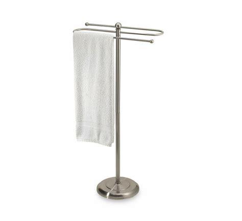 satin nickel  standing bathroom bath hand towel bar