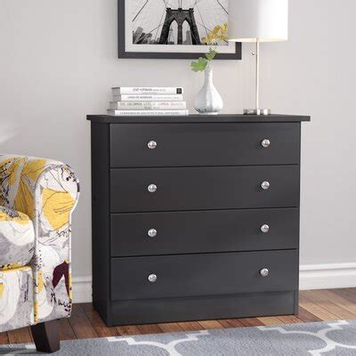 Black Dresser And Chest by Black Dressers Chest Of Drawers You Ll Wayfair