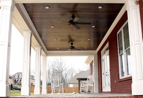 True Beadboard Porch Ceiling Over Stained Concrete Www