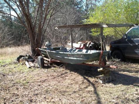 Aluminum Jon Boat Motor by 14 Aluminum Jon Boat With Trailer 3 5 Hp Motor Unkn