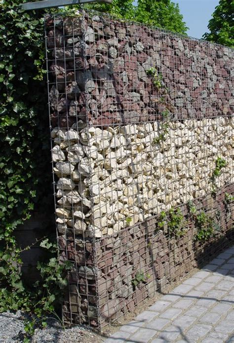 rock walls in wire mesh gabion retaining wall ideas landscaping network