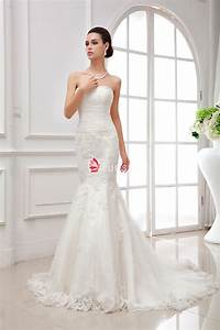 fit and flare strapless sweetheart embroidered lace With fit flare wedding dress