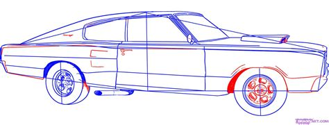 car drawing how to draw a charger step by step cars draw cars