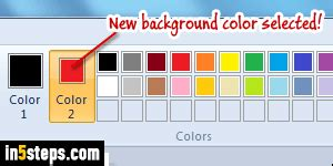 change color in ms paint foreground background fill