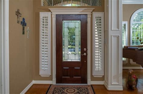 shutters  sidelight windows traditional entry
