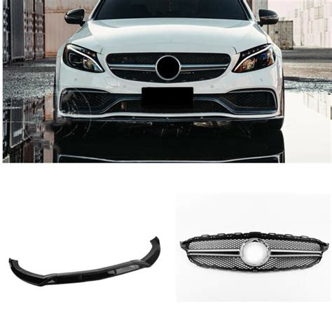 You owe it to yourself to only buy. Front Grille + Bumper Cover Spoiler for Mercedes W205 C250 C300 2019-2020 Silver | eBay