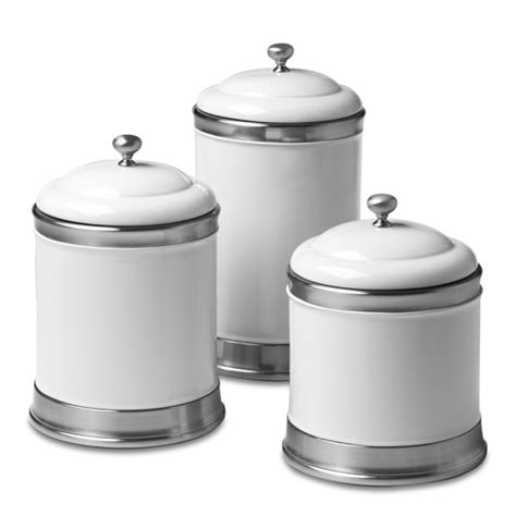 ceramic kitchen canisters williams ceramic canisters set of 3 williams sonoma