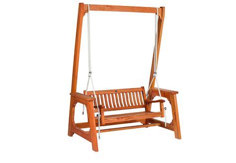 luxe houten schommelbank hardhout      cm