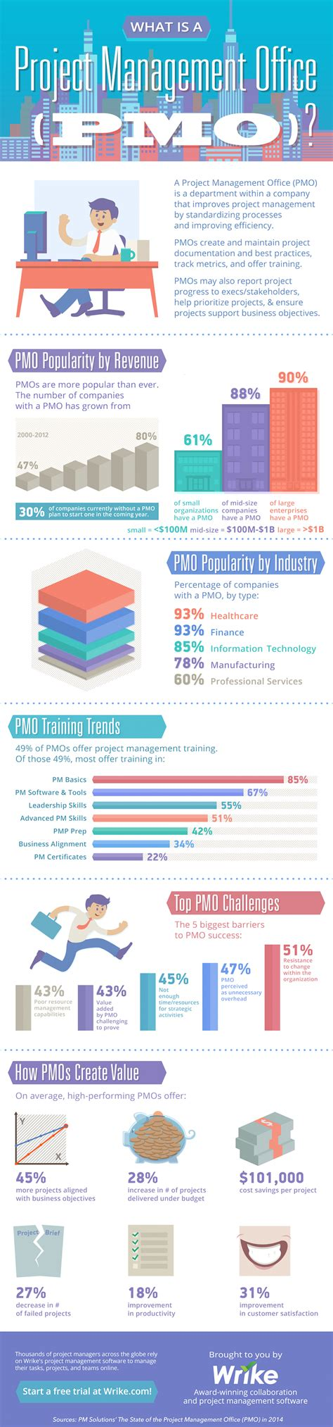 Project Management Manual Template by What Is A Pmo Infographic