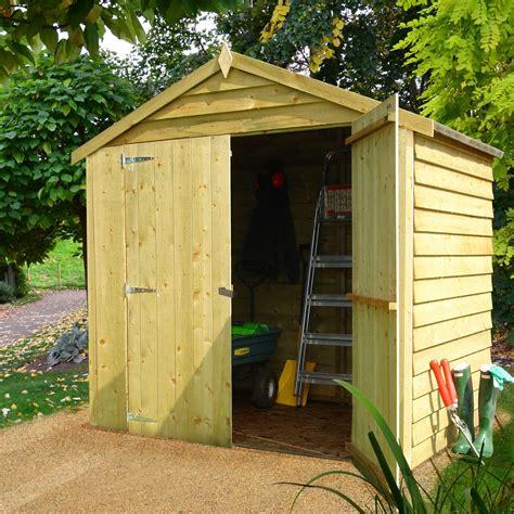 shedsstorage apex overlap double door wooden shed