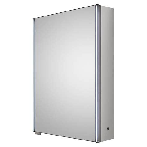 hudson reed meloso 500mm led motion sensor mirror cabinet with shaver socket lq093