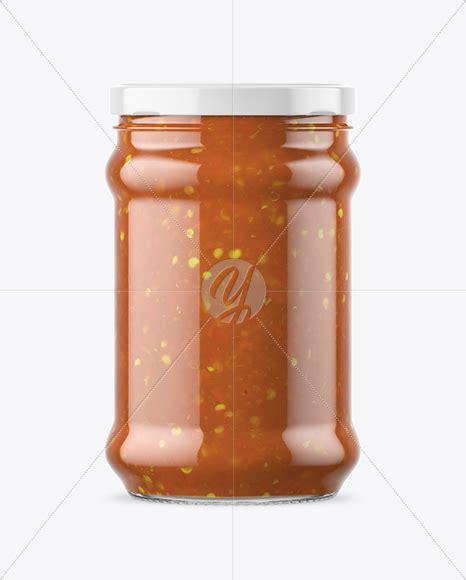 Free beautiful perfume bottle on stand mockup psd. Clear Glass Sweet & Sour Sauce Jar Mockup in Jar Mockups ...