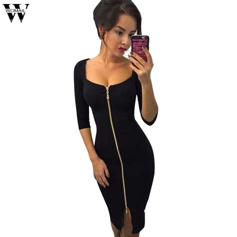 Womail Autumn Winter Fashion Sexy Dresses Party Night Club