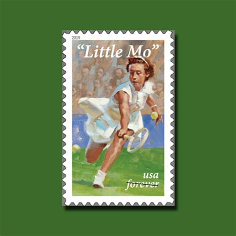 postage stamp  honour  mo  tennis star mintage world