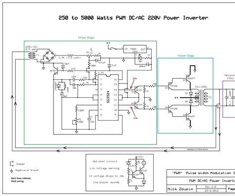 Pure Sine Wave Pwm Inverter Circuit Diagram