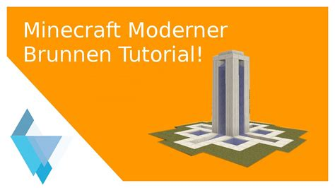 Minecraft Moderner Brunnen Tutorial (leicht) Youtube