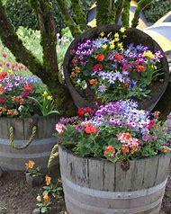 Barrel Flower Planter